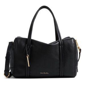 Vera Bradley Mallory Satchel leather NEW black